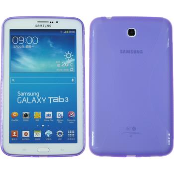 Silicone Case for Samsung Galaxy Tab 3 7.0 X-Style purple