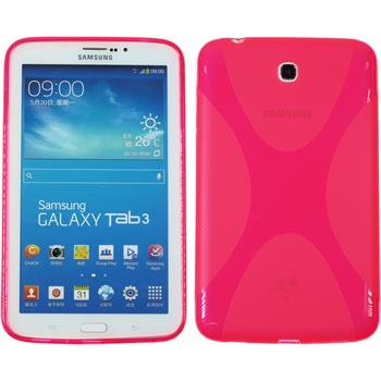 Silicone Case for Samsung Galaxy Tab 3 7.0 X-Style hot pink