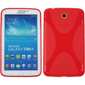 Silikon Hülle Galaxy Tab 3 7.0 X-Style rot