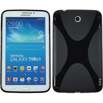 Silikonhülle für Samsung Galaxy Tab 3 7.0 X-Style schwarz