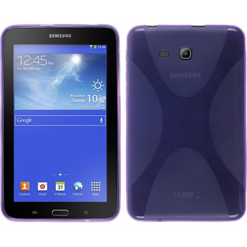 Silicone Case for Samsung Galaxy Tab 3 Lite 7.0 X-Style purple