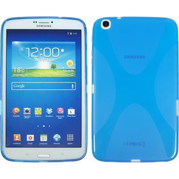 Silikon Hülle Galaxy Tab 3 8.0 X-Style blau