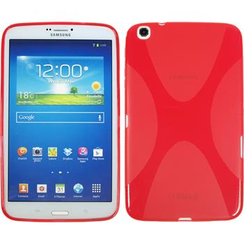 Silicone Case for Samsung Galaxy Tab 3 8.0 X-Style red