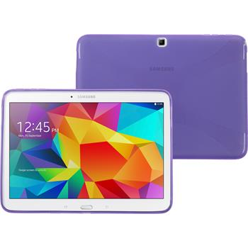 Silicone Case for Samsung Galaxy Tab 4 10.1 X-Style purple