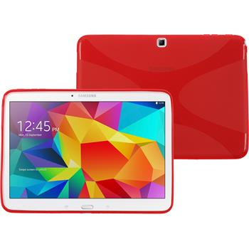 Silicone Case for Samsung Galaxy Tab 4 10.1 X-Style red