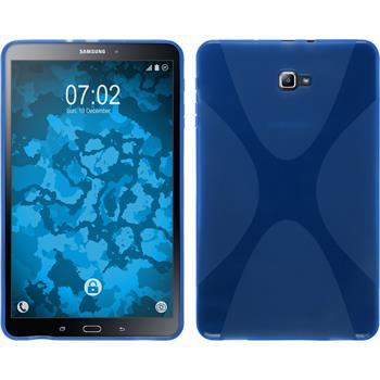 Silikon Hülle Galaxy Tab A 10.1 (2016) X-Style blau + 2 Schutzfolien