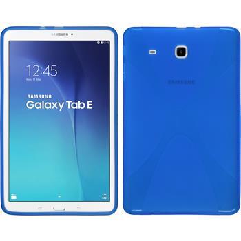 Silikon Hülle Galaxy Tab E 9.6 X-Style blau