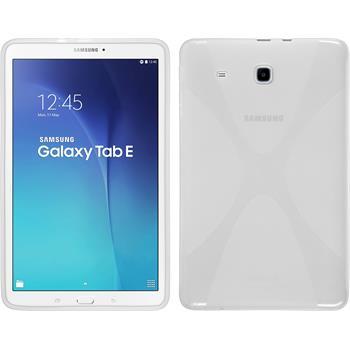Silikon Hülle Galaxy Tab E 9.6 X-Style clear + 2 Schutzfolien
