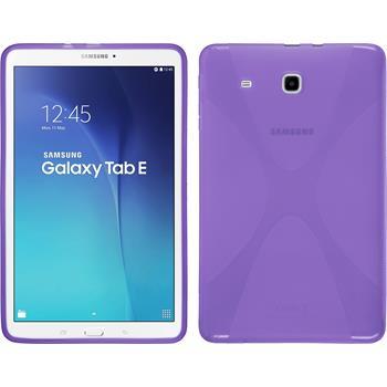 Silikon Hülle Galaxy Tab E 9.6 X-Style lila