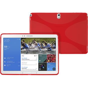 Silicone Case for Samsung Galaxy Tab Pro 10.1 X-Style red