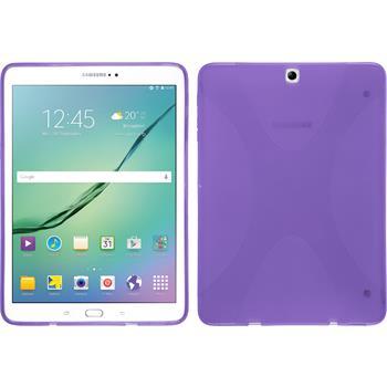 Silikon Hülle Galaxy Tab S2 9.7 X-Style lila + 2 Schutzfolien
