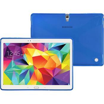 Silikonhülle für Samsung Galaxy Tab S 10.5 X-Style blau