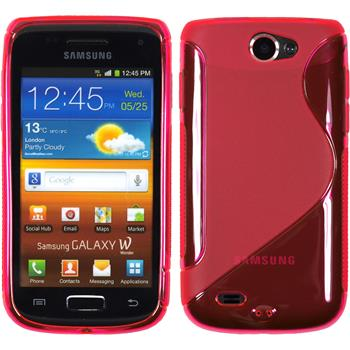 Silicone Case for Samsung Galaxy W S-Style hot pink