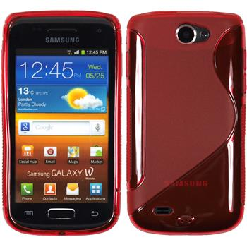 Silicone Case for Samsung Galaxy W S-Style red