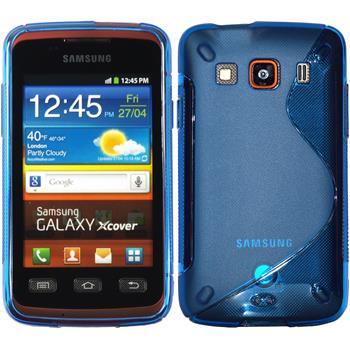 Silikon Hülle Galaxy Xcover S-Style blau