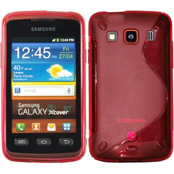 Silicone Case for Samsung Galaxy Xcover S-Style red