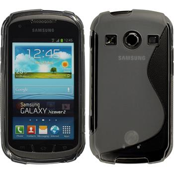Silicone Case for Samsung Galaxy Xcover 2 S-Style gray