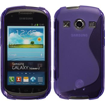 Silicone Case for Samsung Galaxy Xcover 2 S-Style purple