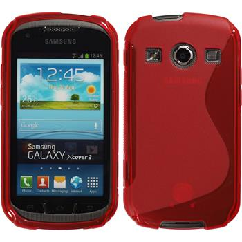 Silicone Case for Samsung Galaxy Xcover 2 S-Style red
