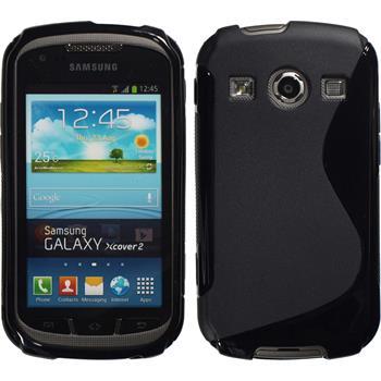 Silikon Hülle Galaxy Xcover 2 S-Style schwarz