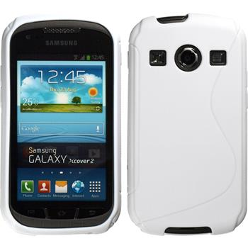 Silikon Hülle Galaxy Xcover 2 S-Style weiß