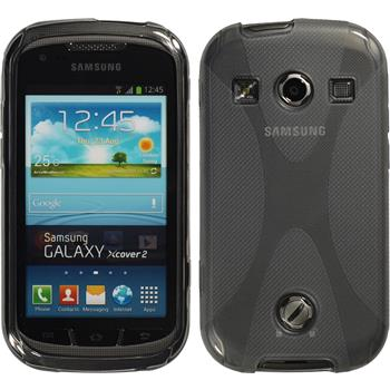 Silicone Case for Samsung Galaxy Xcover 2 X-Style gray