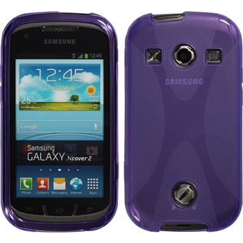 Silicone Case for Samsung Galaxy Xcover 2 X-Style purple