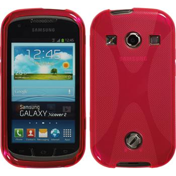 Silicone Case for Samsung Galaxy Xcover 2 X-Style hot pink