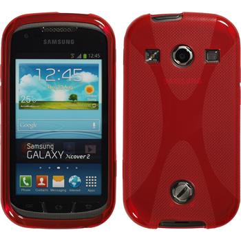 Silicone Case for Samsung Galaxy Xcover 2 X-Style red