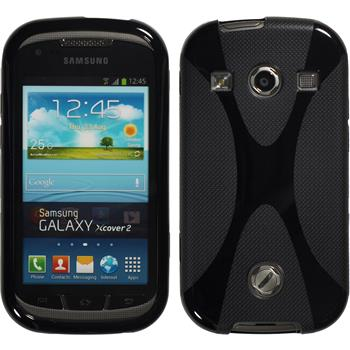 Silicone Case for Samsung Galaxy Xcover 2 X-Style black
