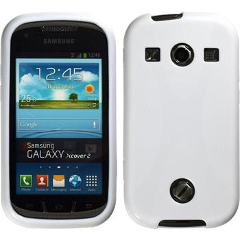 Silicone Case for Samsung Galaxy Xcover 2 X-Style white