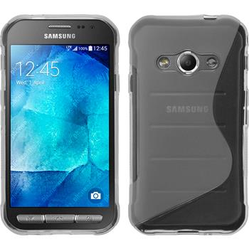Silicone Case for Samsung Galaxy Xcover 3 S-Style transparent