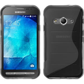 Silikon Hülle Galaxy Xcover 3 S-Style grau