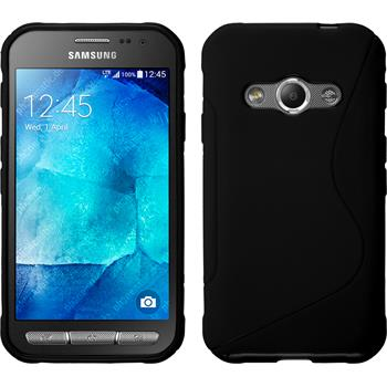 Silicone Case for Samsung Galaxy Xcover 3 S-Style black