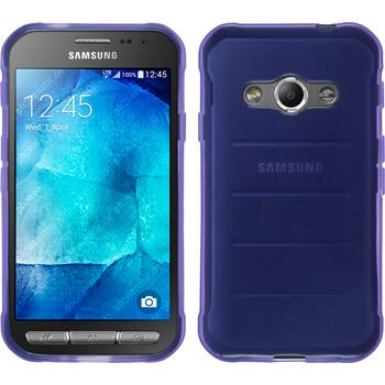 Silikon Hülle Galaxy Xcover 3 transparent lila