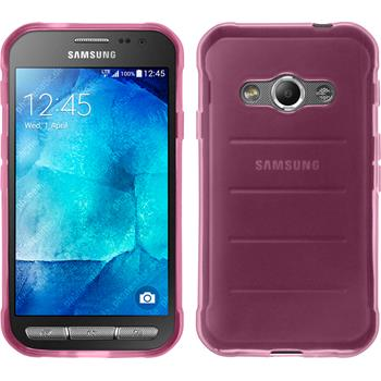 Silikon Hülle Galaxy Xcover 3 transparent rosa