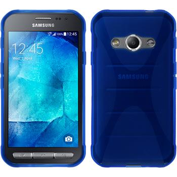Silikon Hülle Galaxy Xcover 3 X-Style blau