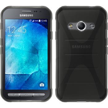 Silikon Hülle Galaxy Xcover 3 X-Style grau