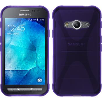 Silicone Case for Samsung Galaxy Xcover 3 X-Style purple