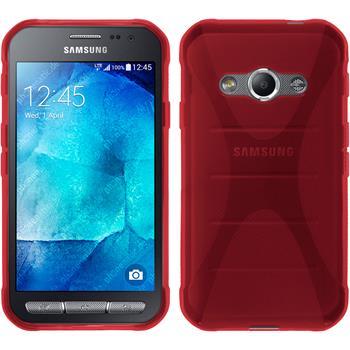 Silikonhülle für Samsung Galaxy Xcover 3 X-Style rot