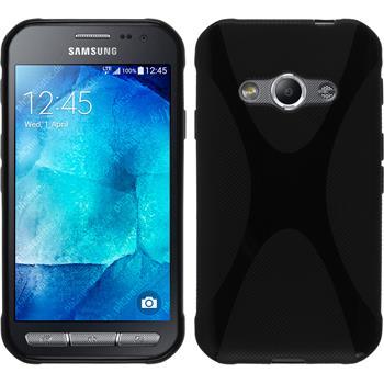 Silikon Hülle Galaxy Xcover 3 X-Style schwarz