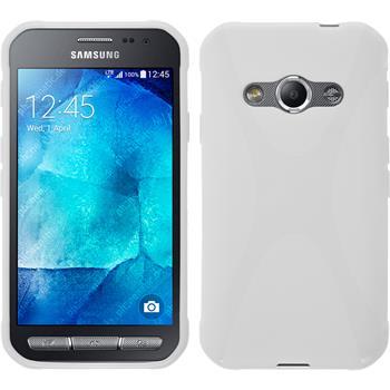 Silikon Hülle Galaxy Xcover 3 X-Style weiß