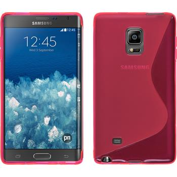 Silikon Hülle Galaxy Note Edge S-Style pink