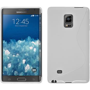 Silikon Hülle Galaxy Note Edge S-Style weiß