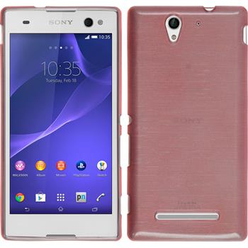 Silikonhülle für Sony Xperia C3 brushed rosa