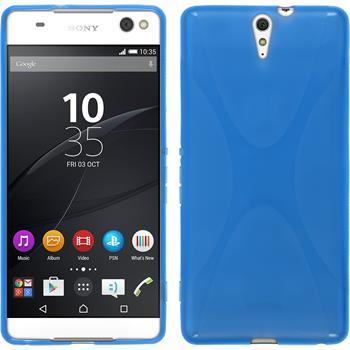 Silikon Hülle Xperia C5 Ultra X-Style blau