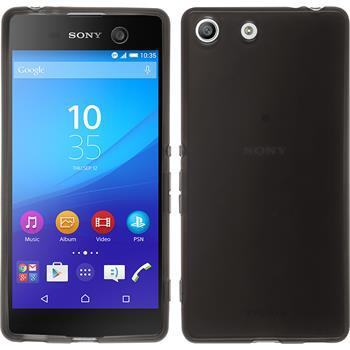 Silikonhülle für Sony Xperia M5 transparent schwarz