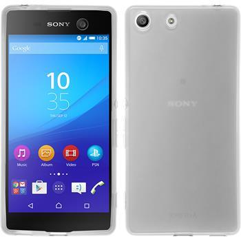 Silikonhülle für Sony Xperia M5 transparent weiß