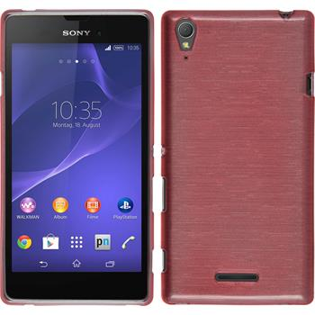 Silikonhülle für Sony Xperia Style brushed rosa