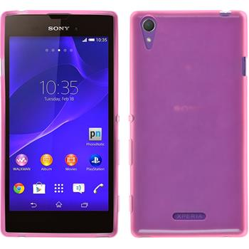 Silikonhülle für Sony Xperia Style transparent rosa